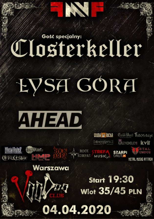 Female Metal Voices Festival 5.0 z Closterkeller – Warszawa+ Łysa Góra, Ahead