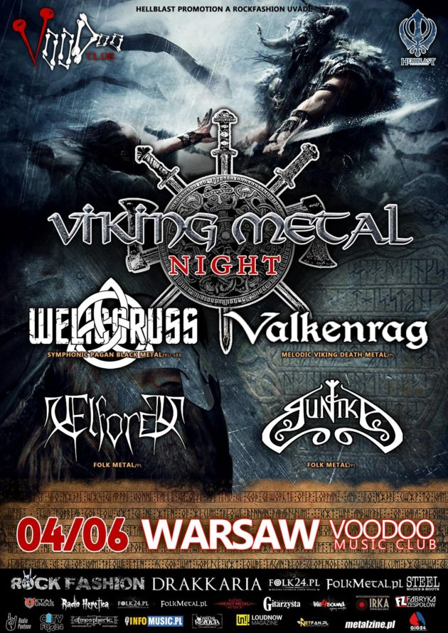 VIKING METAL NIGHT: Welicoruss, Valkenrag, Runika, Elforg