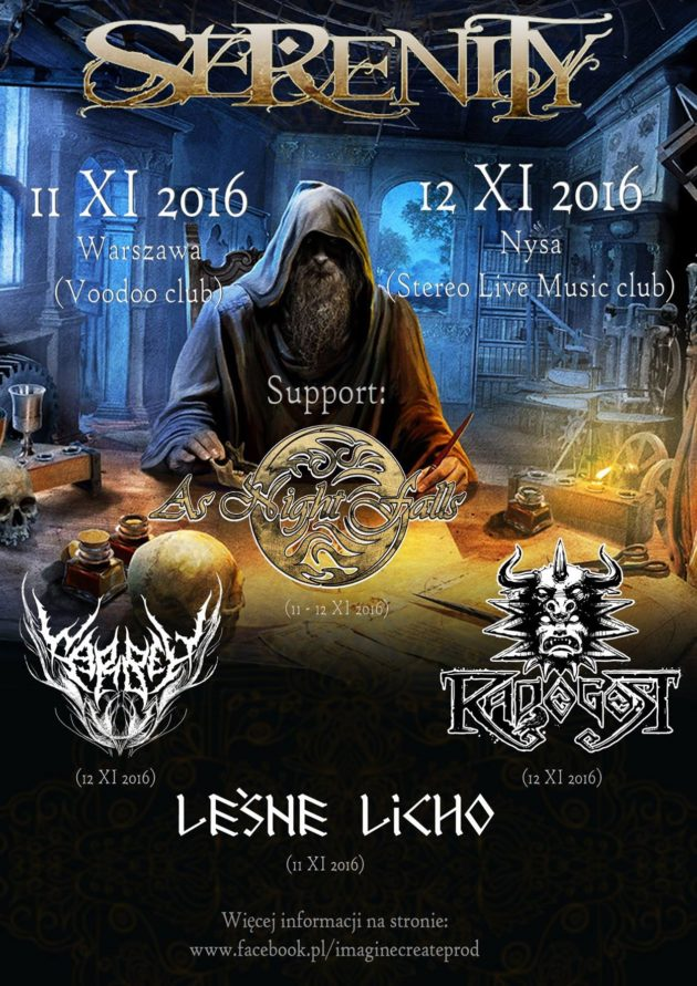 Koncert Serenity ! Support: Leśne Licho, As Night Falls