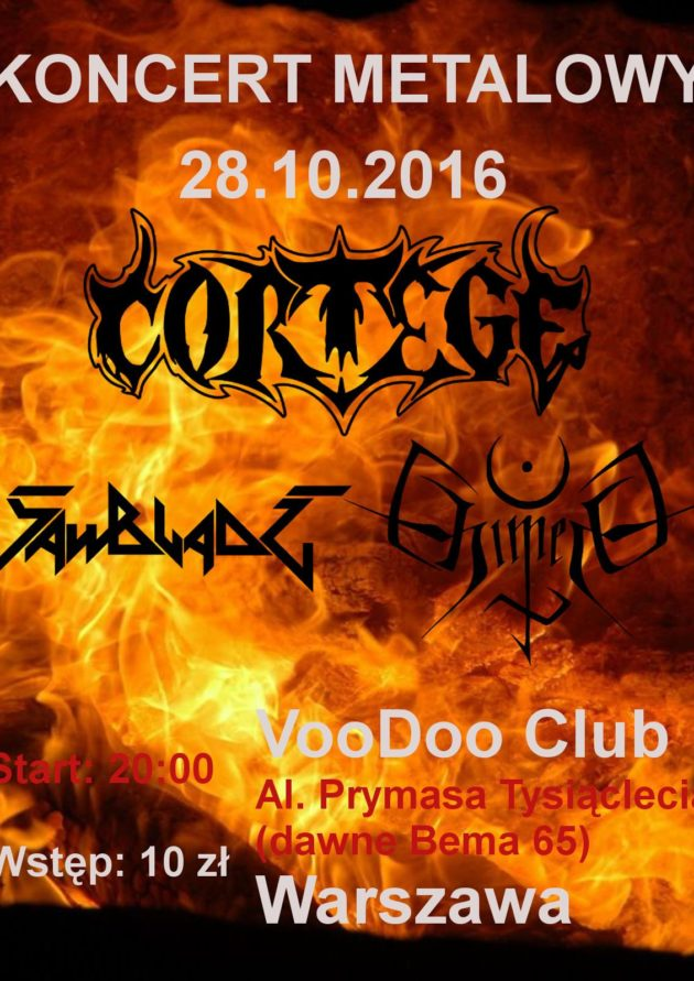Koncert Cortege / Sawblade / Chimera
