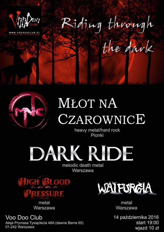 Riding through the dark [MNC Dark Ride Walpurgia]