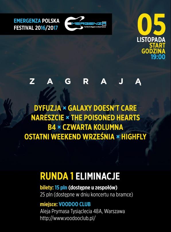 Eliminacje EMERGENZA FESTIVAL Polska – 3