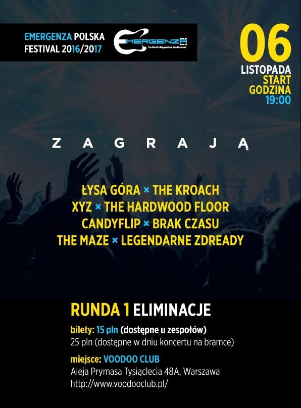 Eliminacje EMERGENZA FESTIVAL Polska – 4