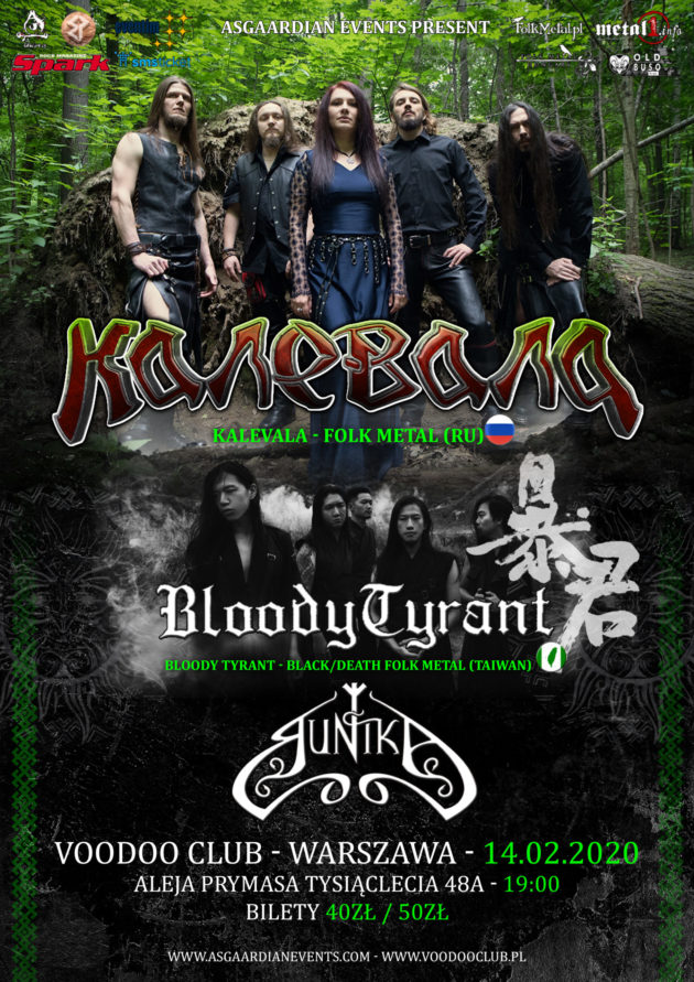 Kalevala I Bloody Tyrant I Runika – Folk Metal Night Warszawa