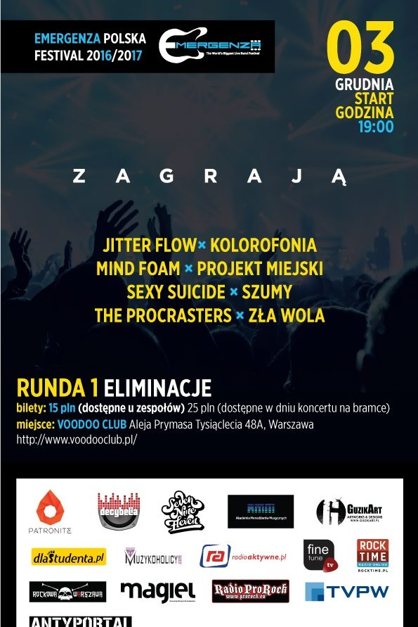 Eliminacje EMERGENZA FESTIVAL Polska 6