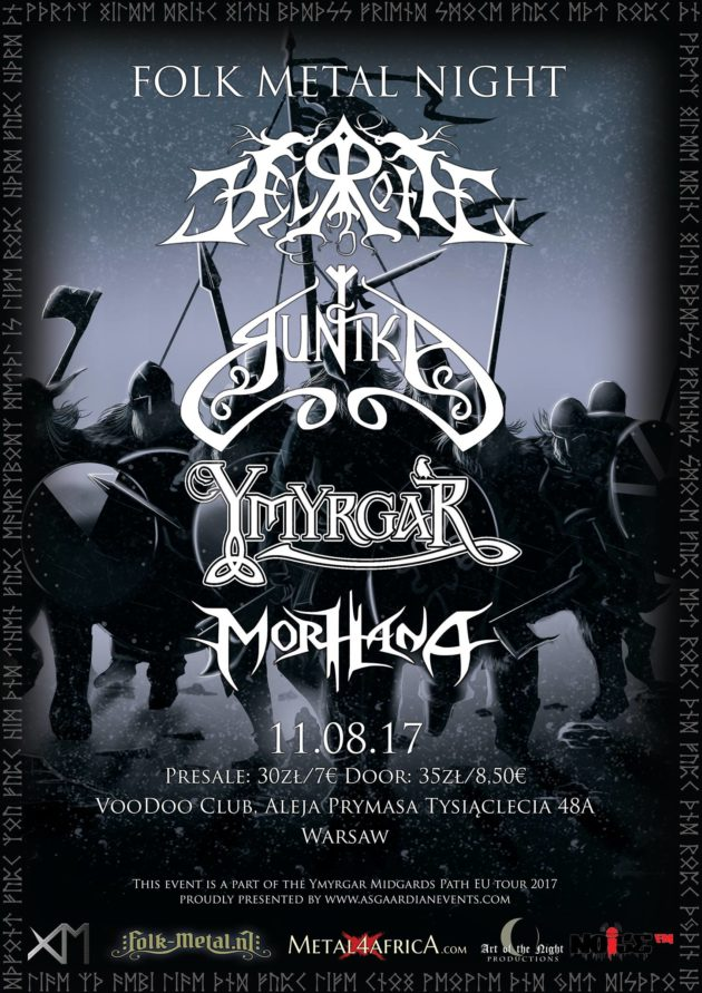 Folk Metal Night w/ Lagerstein, Ymyrgar, Runika & Morhana
