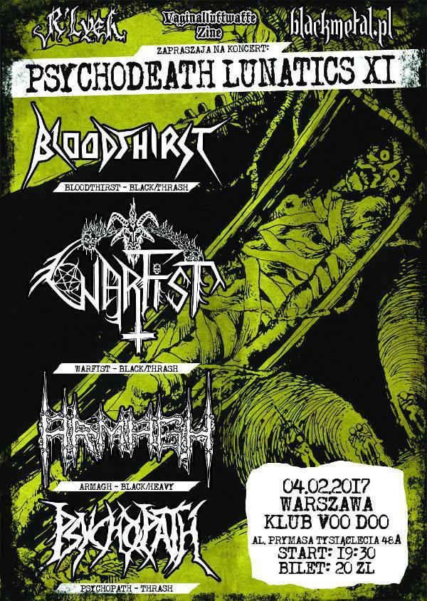 Bloodthirst / Warfist / Armagh / Psychopath