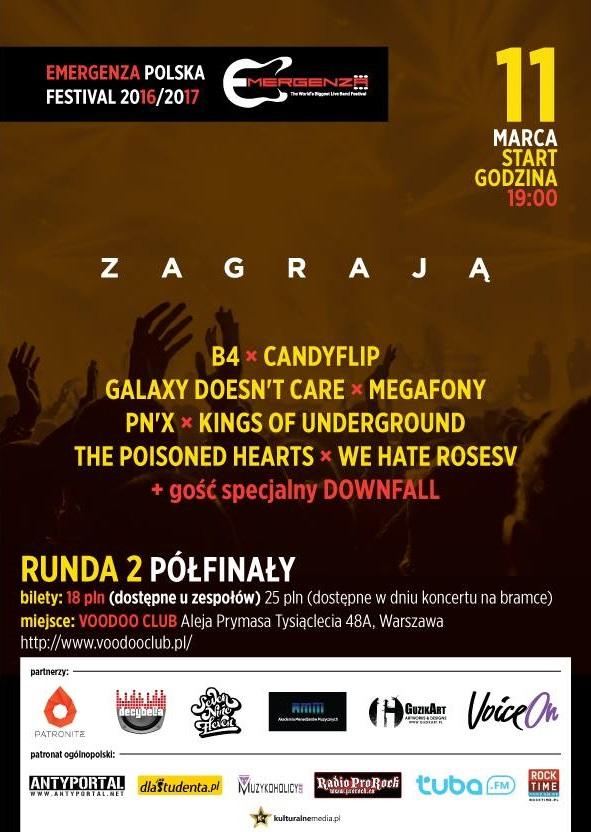 Półfinały EMERGENZA FESTIVAL Polska – Warszawa VooDooClub – 2