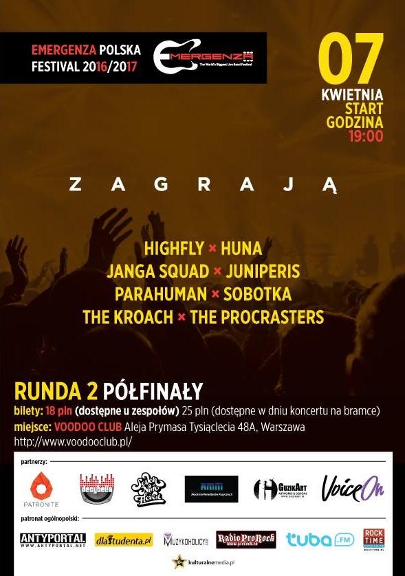 Półfinały EMERGENZA FESTIVAL Polska – Warszawa VooDooClub – 3