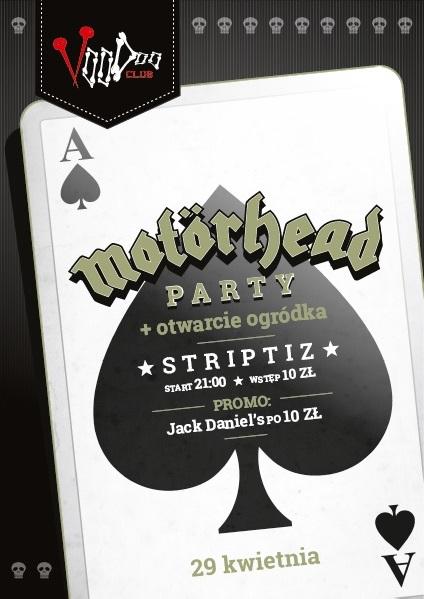 Motörhead Party + otwarcie ogródka