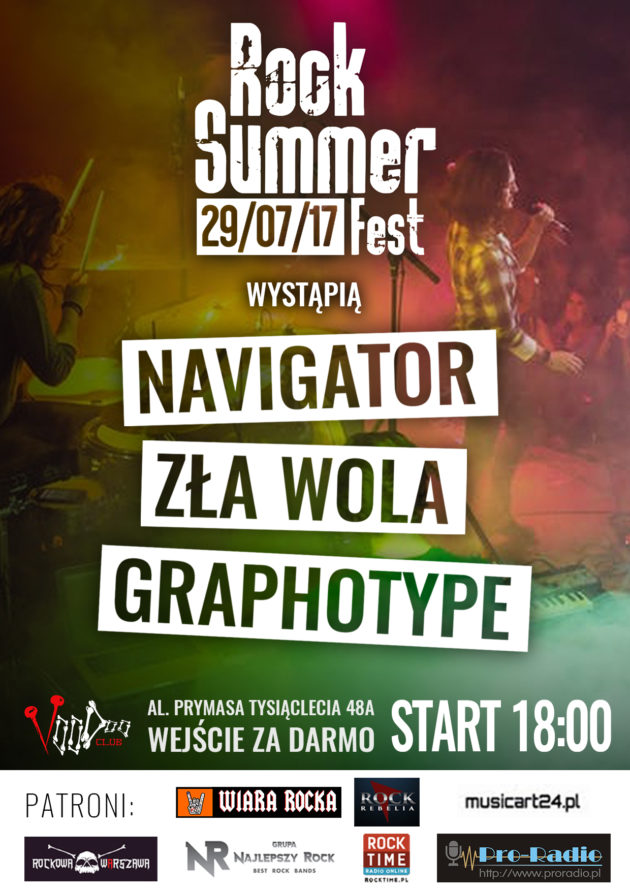 Rock Summer Fest: Navigator/Zła Wola/Graphotype