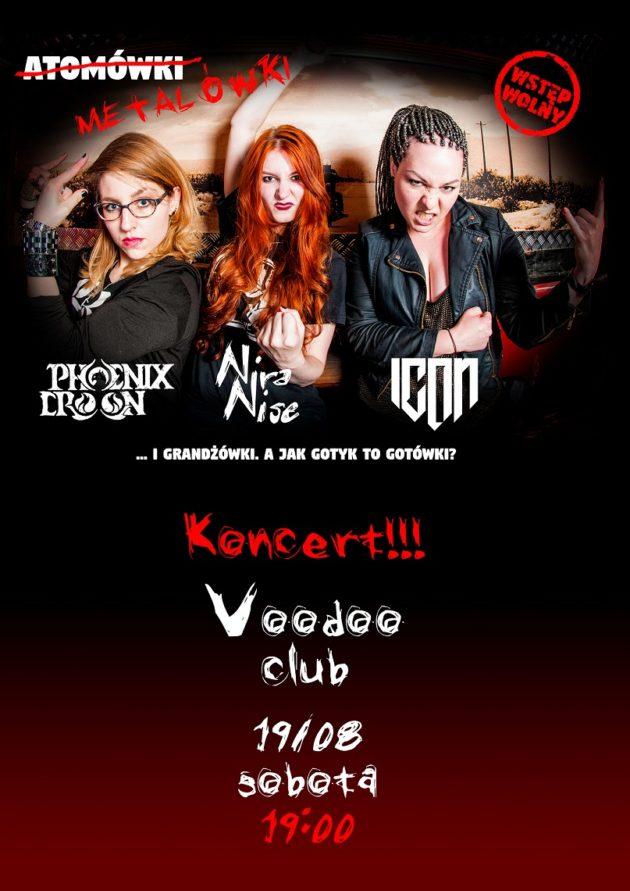 Atomówki Metalówki – koncert Phoenix Croon, ICON i Nira Nise
