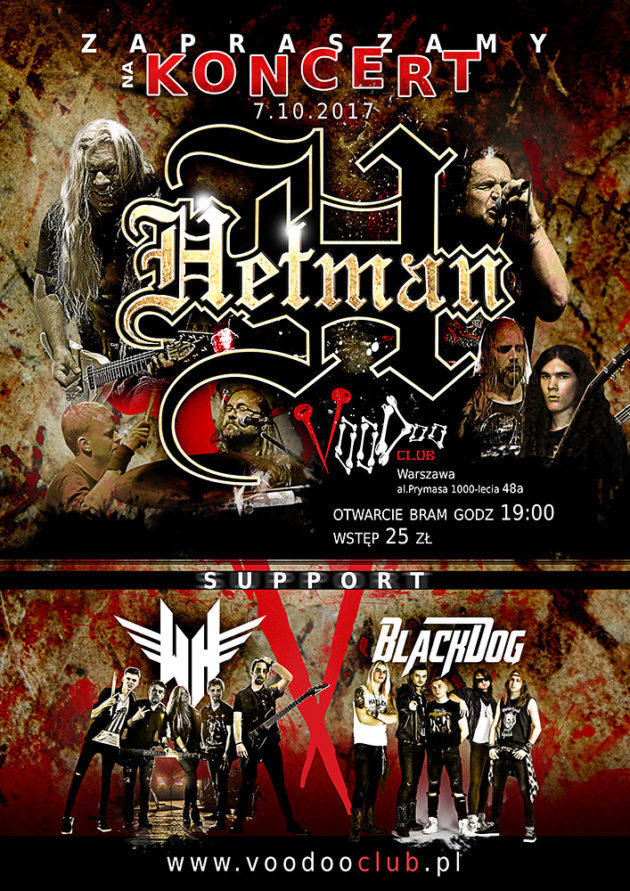 Koncert: Hetman II White Highway II Black Dog