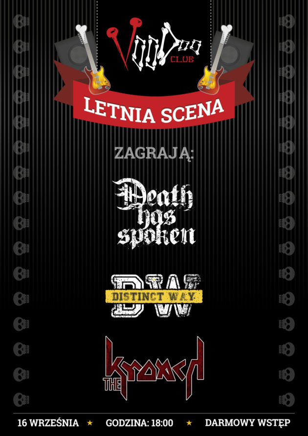 Letnia Scena VooDoo: Death has spoken, Distinct Way i The Kroach