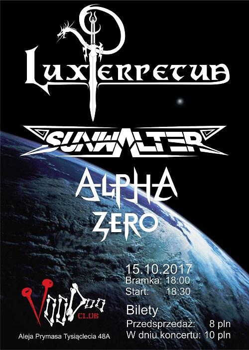 Koncert Lux Perpetua / Sunwalter / Alpha Zero