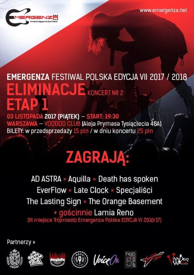 Eliminacje (Warszawa) EMERGENZA FESTIVAL PL Voodoo Club 1