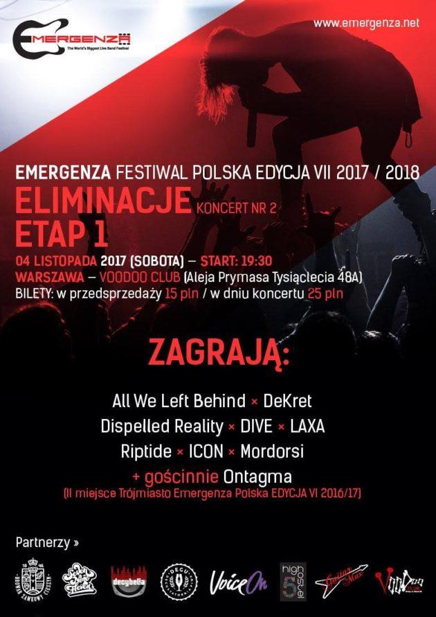 Eliminacje (Warszawa) EMERGENZA FESTIVAL PL Voodoo Club 2