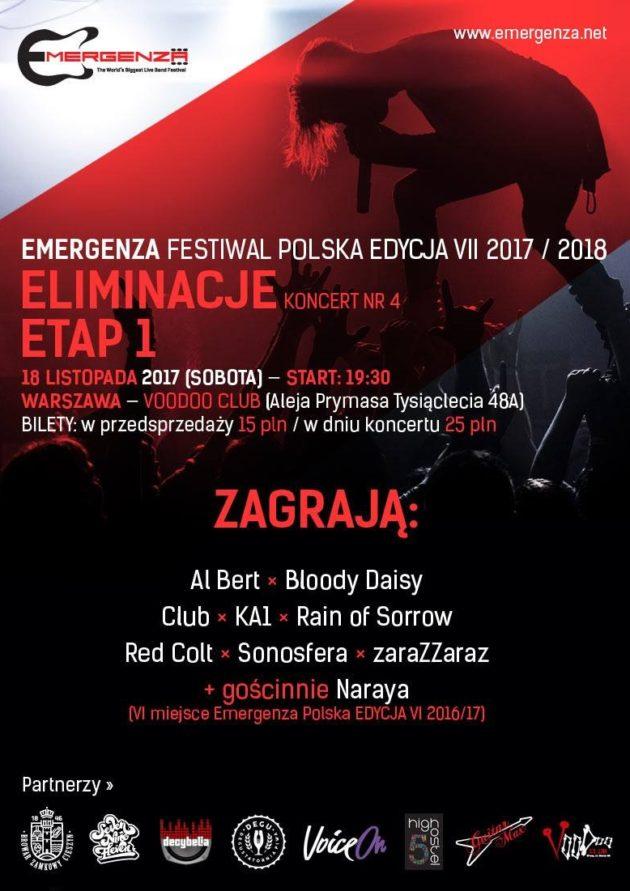 Eliminacje (Warszawa) EMERGENZA FESTIVAL PL Voodoo Club 4
