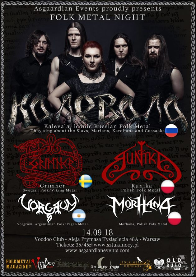 Folk Metal Night – Kalevala, Grimner, Runika, Vorgrum & Morhana