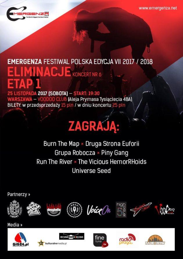 Eliminacje (Warszawa) EMERGENZA FESTIVAL PL Voodoo Club 6