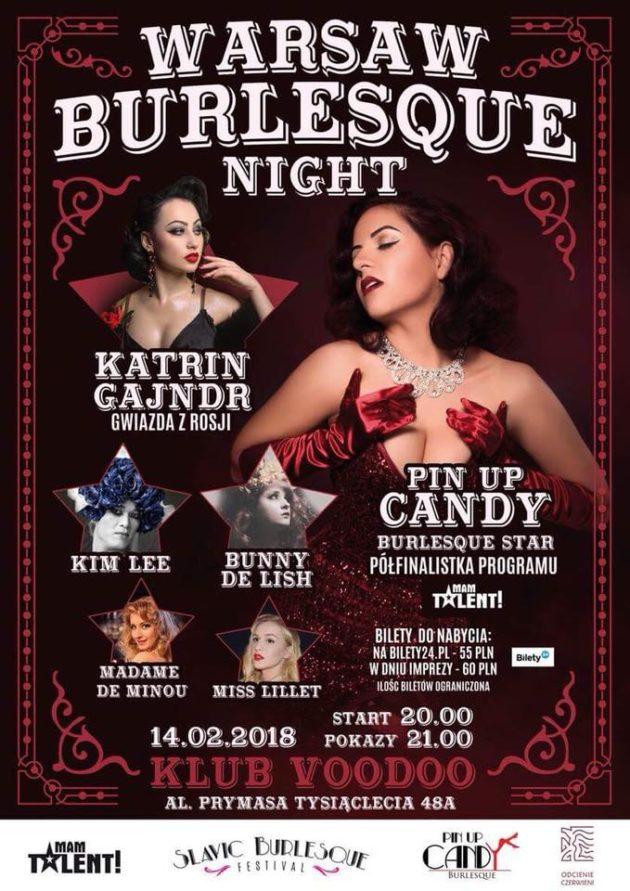 Warsaw Burlesque Night – St. Valentines