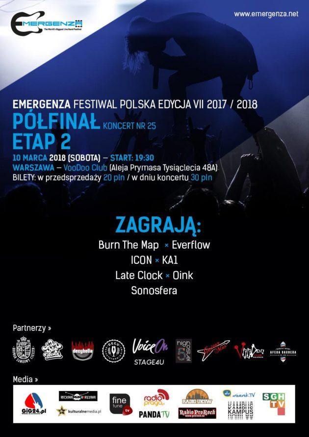 Półfinał (Warszawa) EMERGENZA FESTIVAL PL VooDoo Club 2