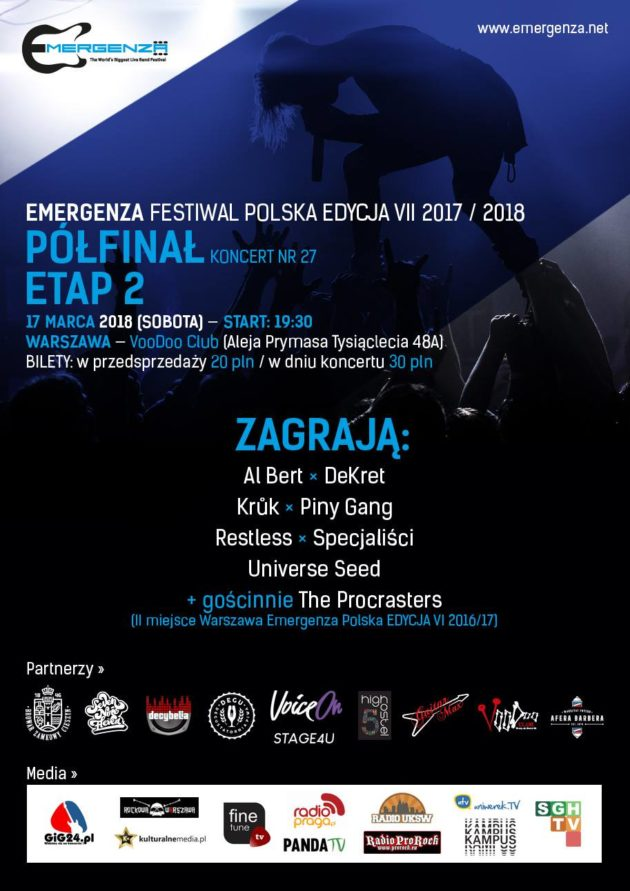 Półfinał (Warszawa) EMERGENZA FESTIVAL PL VooDoo Club 4