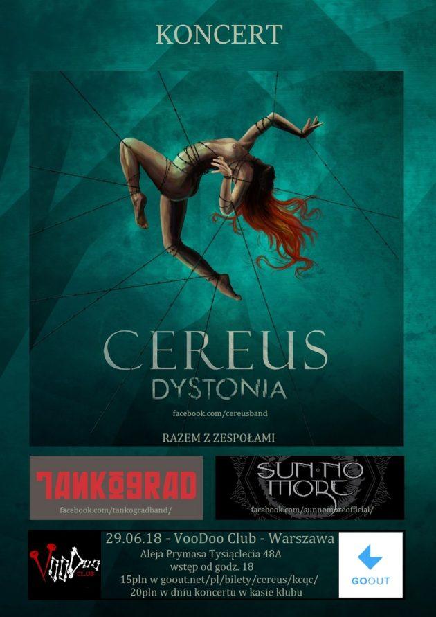 """Koncert """"Cereus i towarzysze"""" z okazji wydania albumu """"Dystonia"""""""