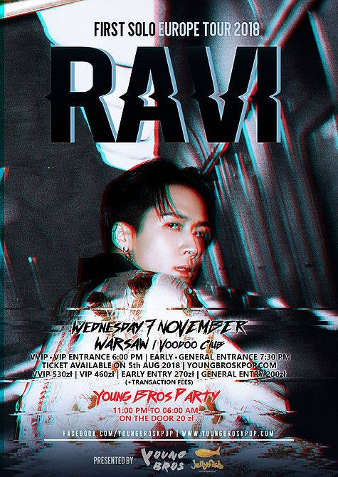 RAVI of VIXX in Warsaw! + Young Bros Party