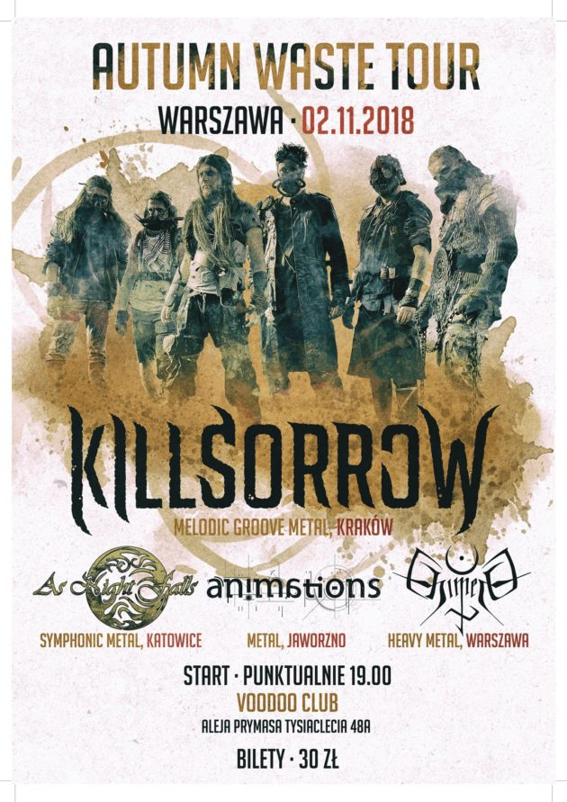 Killsorrow, Animations, As Night Falls, Chimera at VooDoo Club