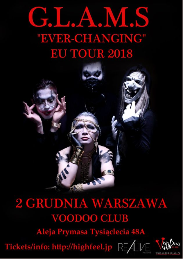 GLAMS EU Tour 2018 – Warsaw (PL) – VooDoo Club