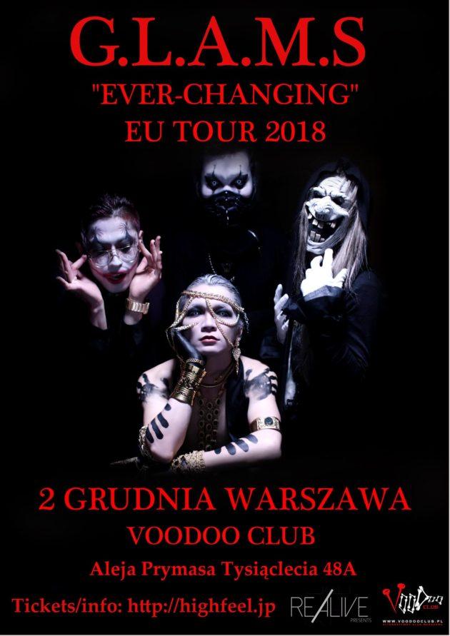 GLAMS EU Tour 2018 – Warsaw (PL) – VooDoo Club