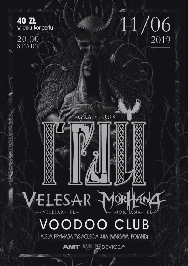 Haze-Tour – GRAI (RU) x Morhana x Velesar in VooDoo Club Warsaw