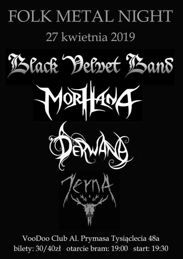 Folk Metal Night Warszawa – BVB x Morhana x Derwana X Jerna