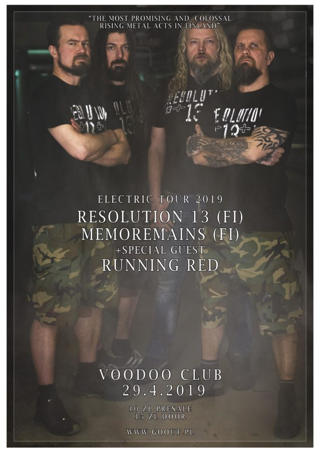 Electric Tour 2019: Resolution 13 [FIN], Memoremains [FIN] x Running Red