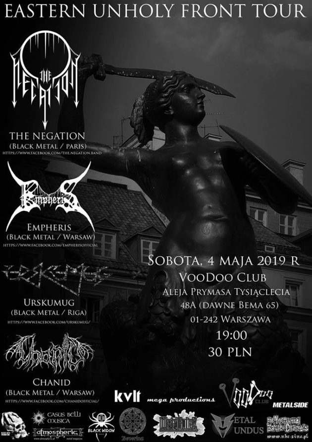EASTERN UNHOLY FRONT TOUR: The Negation x Urskumug x Chanid