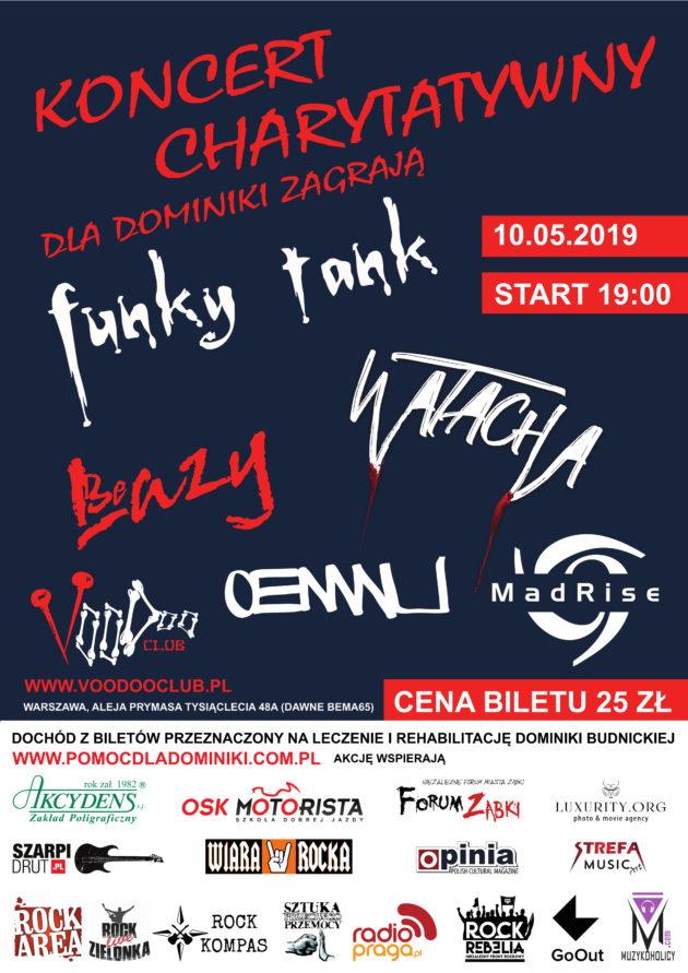 Koncert dla Dominiki – Funky Tank BeLAZY OENWU WatAcha MadRise