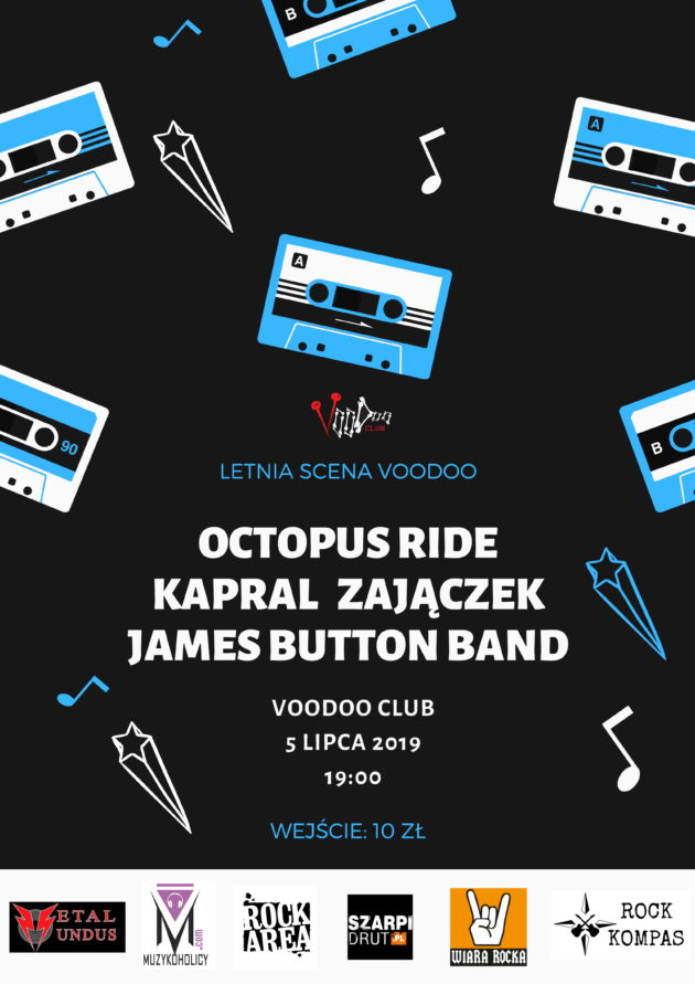 Letnia Scena VooDoo – Octopus Ride x Kapral Zajączek x James Button Band