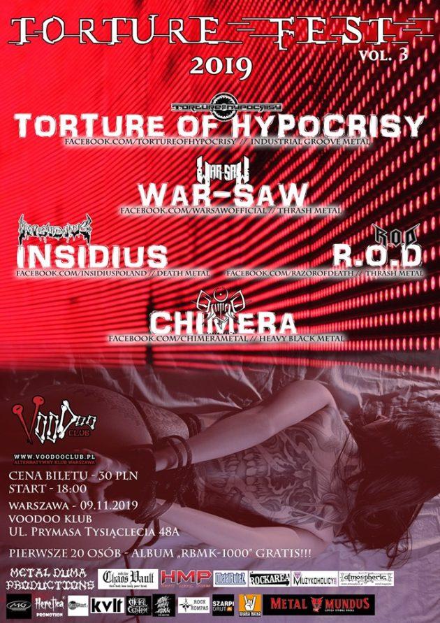 Torture Fest 3 – R.O.D x Insidius x Torture of Hypocrisy x War-saw x Chimera