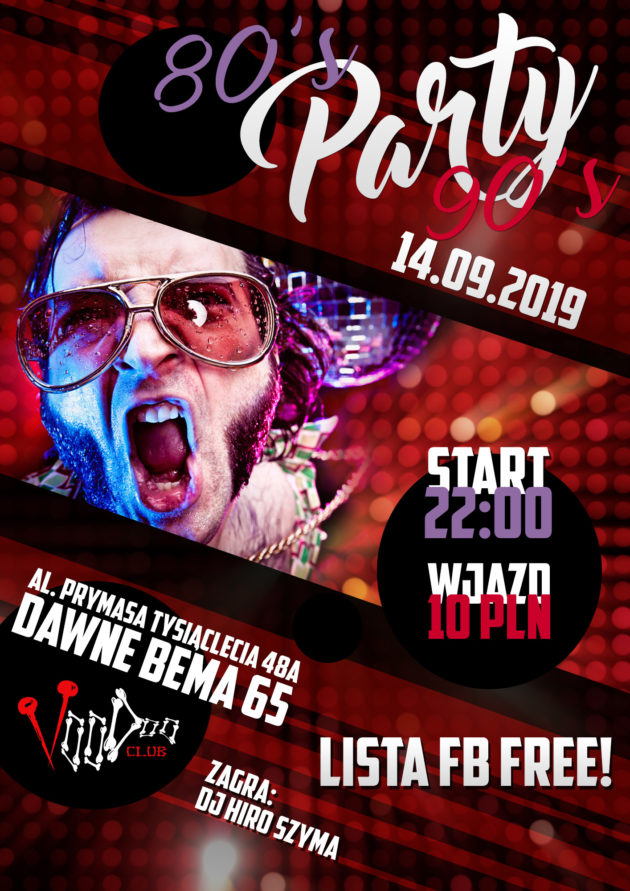 80's/90's Party // lista fb free!