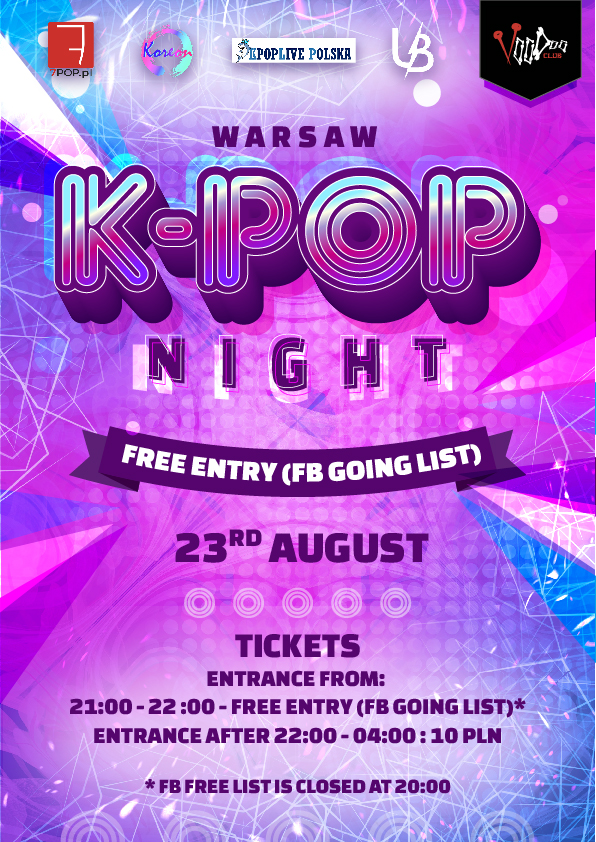 Warsaw K-POP night at VooDoo Club // fb list free*
