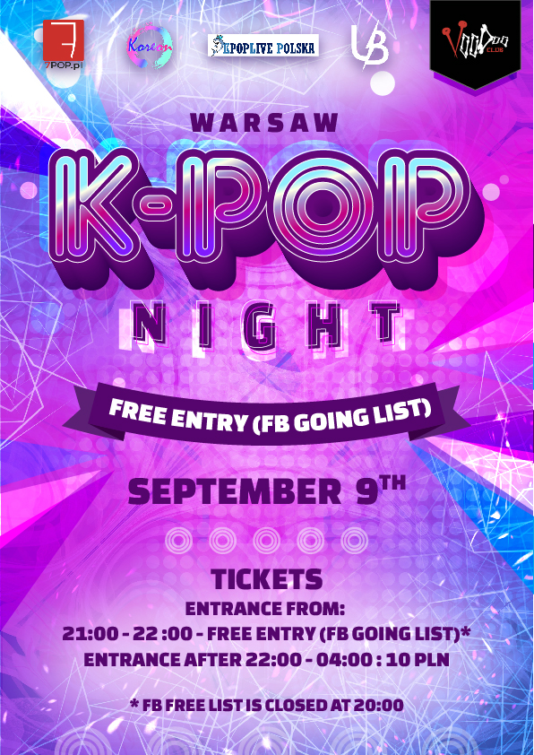 Warsaw K-POP night at VooDoo Club // fb list free*