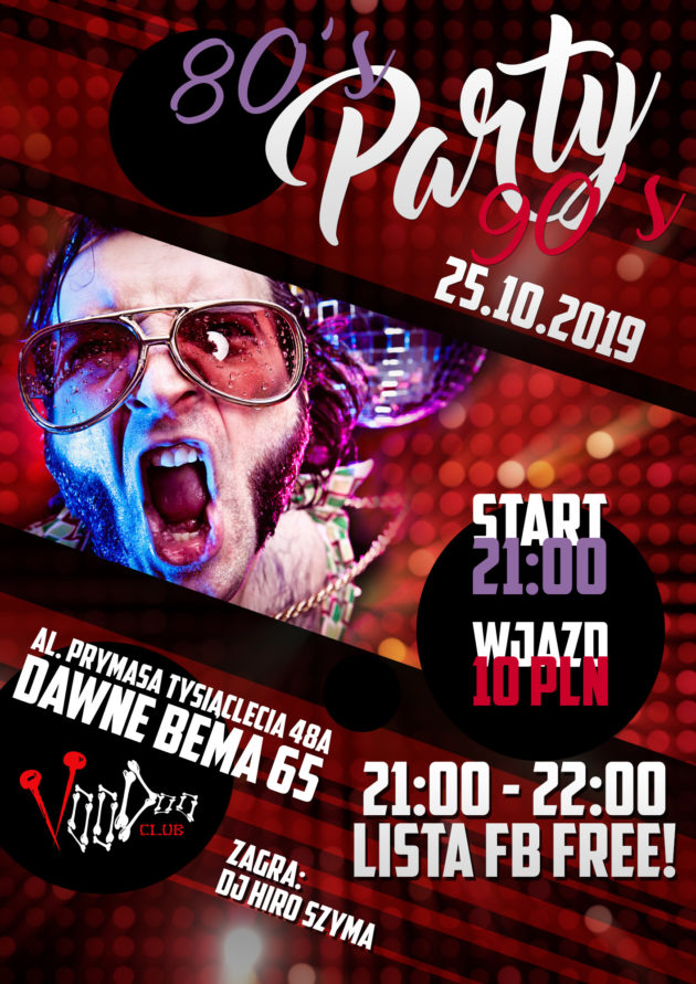 80's/90's Party // lista fb free*