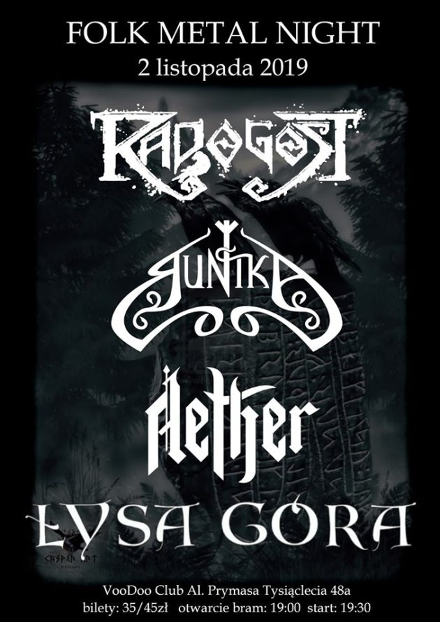 Folk Metal Night Dziady – Radogost x Runika x Łysa Góra x Aether