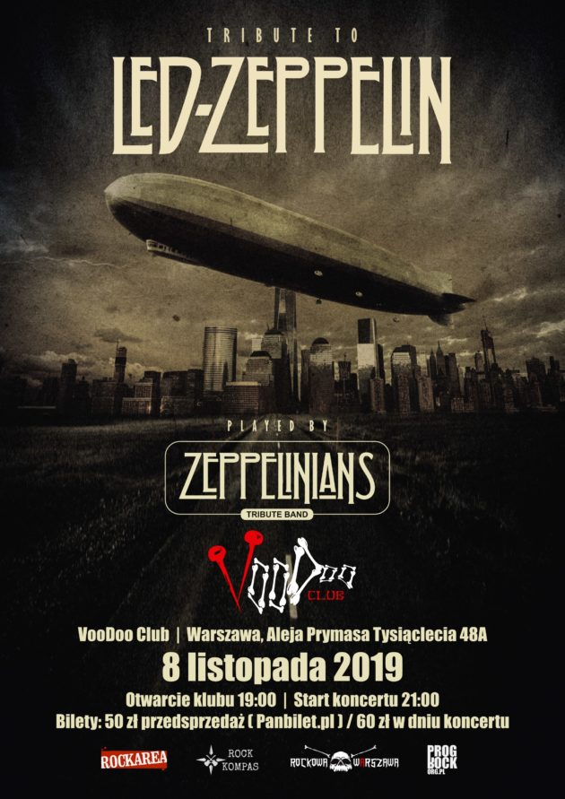 Tribute to Led Zeppelin / 08.11.2019 / VooDoo Club / Warszawa