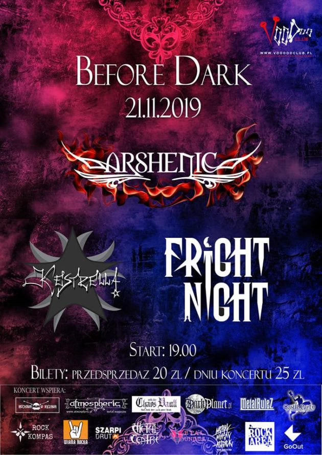 Before Dark Warszawa – Arshenic x Kestrella x Fright Night