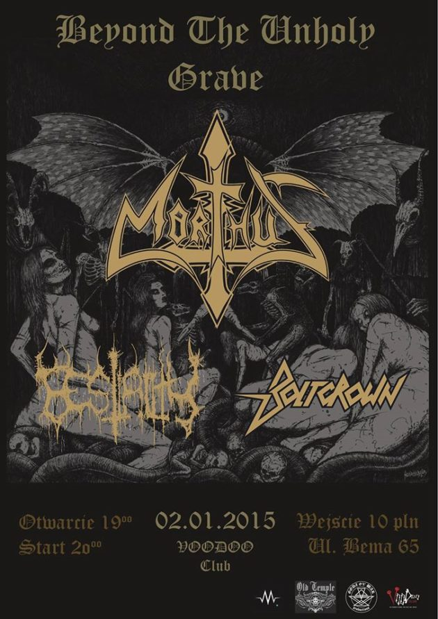 Beyond The Unholy Grave – MORTHUS + BESTIALITY + BOLTCROWN