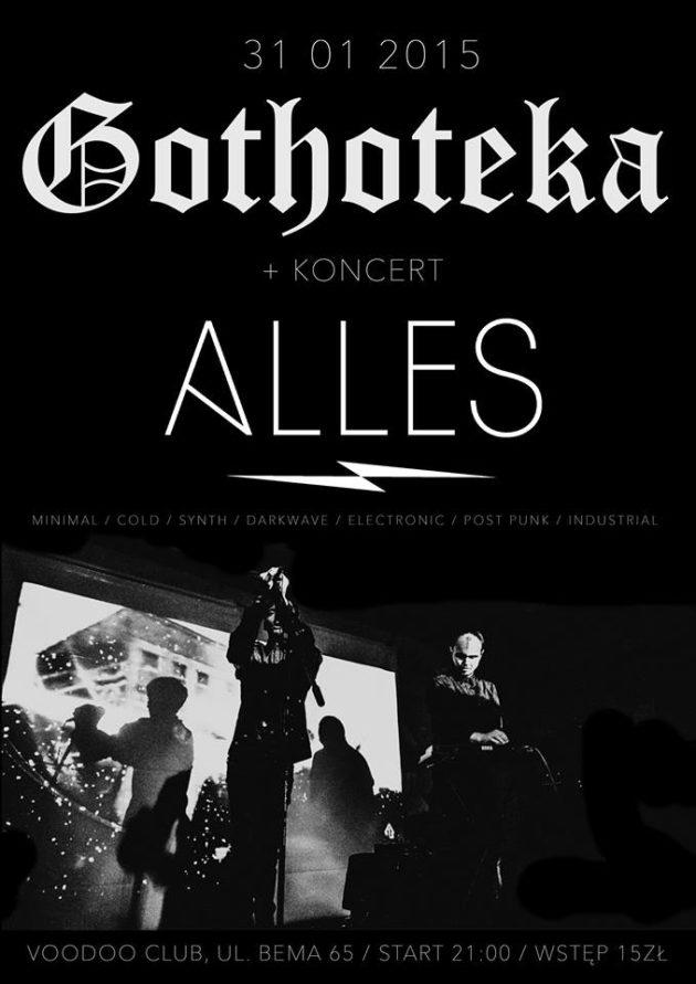 GOTHOTEKA + koncert ALLES / 31.01.2015 VooDoo Club