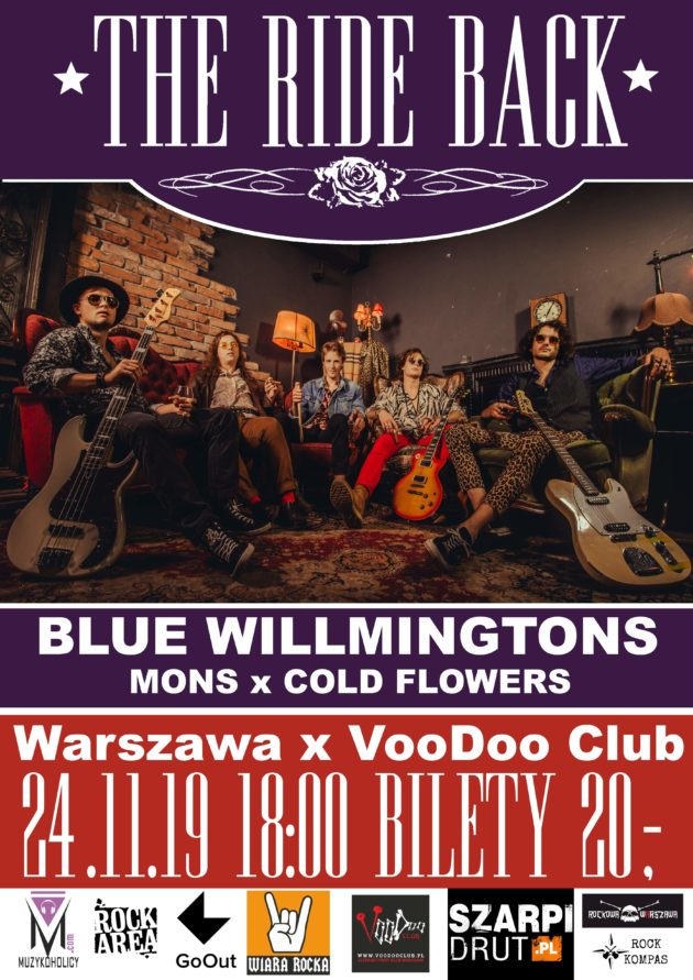 The Ride Back, Blue Willmingtons, MONS, ColdFlowers -VooDoo Club