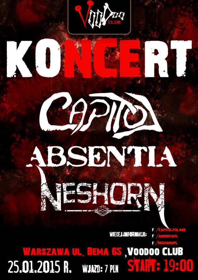 Mazovia Metal Underground ! Capitol, Absentia oraz Neshorn!
